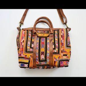 Bohemian vintage fabric crossbody!! Stunning !